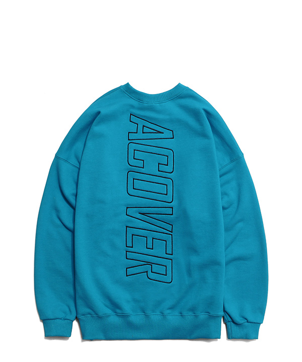 BE COLORFUL DROP SHOULDER SWEATSHIRTS BLUE GREEN