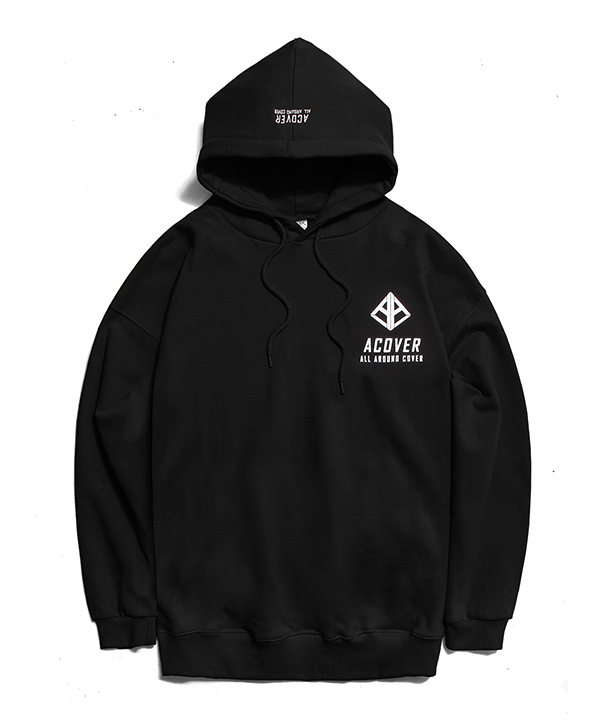 A LOGO GRAPHIC HOODIE BLACK
