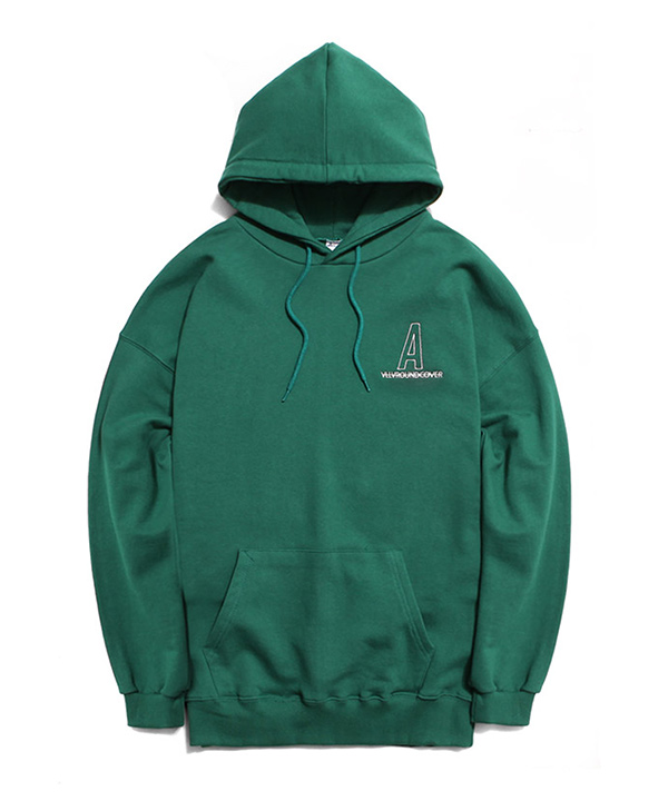 NEEDLEPOINT A LOGO HOODIE GREEN