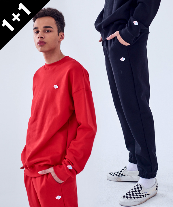 [1+1] DOUBLE WAPPEN BASIC SWEATSHIRTS + WAPPEN BASIC SWEAT PANTS