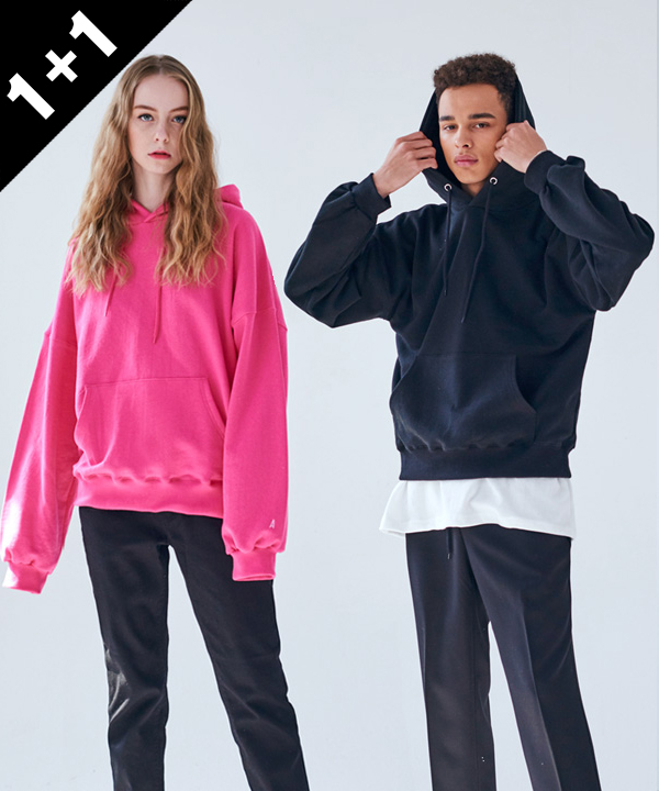 [1+1] COLORFUL H BASIC HOODIE