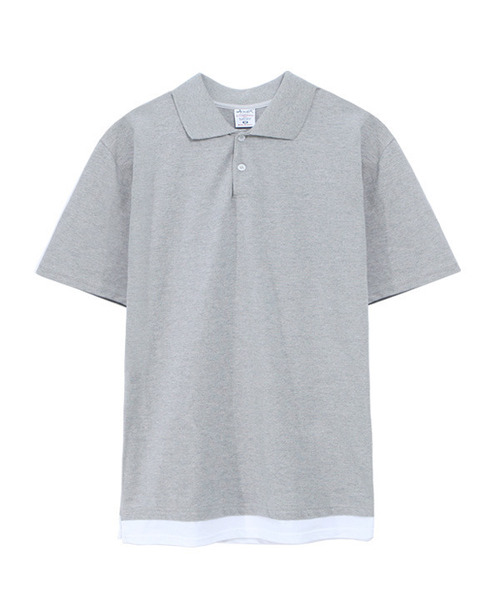 Layered Type Regular Fit PK-Shirt Gray