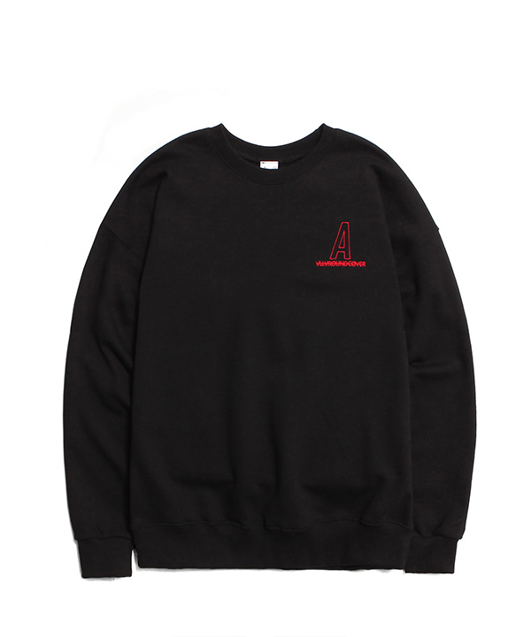 NEEDLEPOINT A LOGO SWEATSHIRTS BLACK