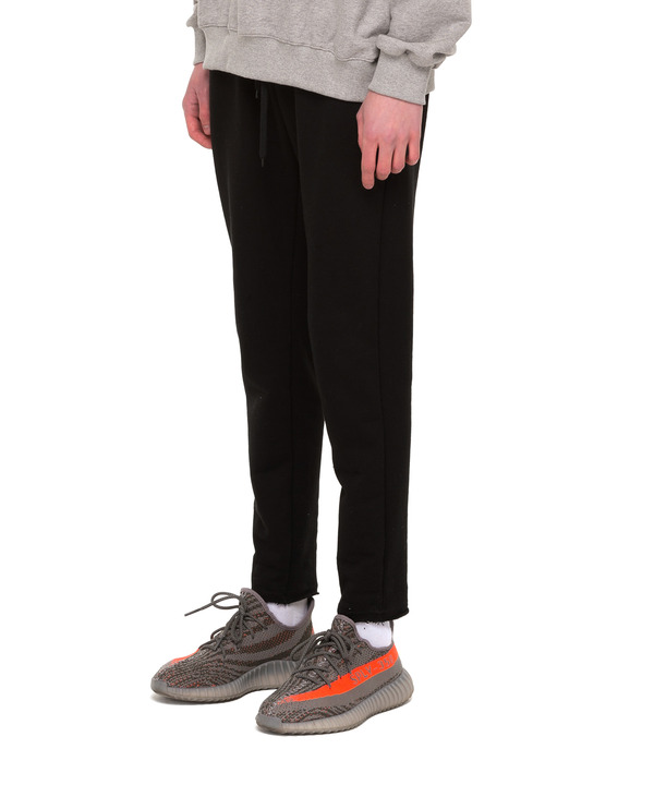 ZIPPER POCKET SWEAT PANTS BLACK