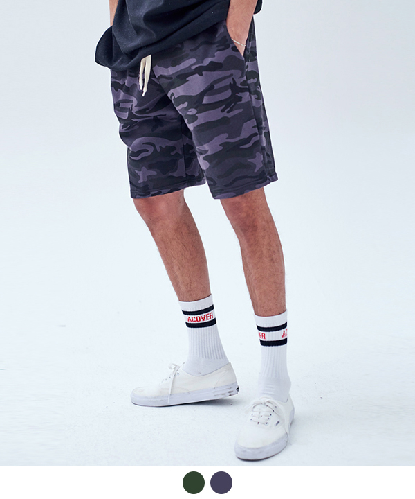 JUNGLE CAMO SWEAT SHORTS