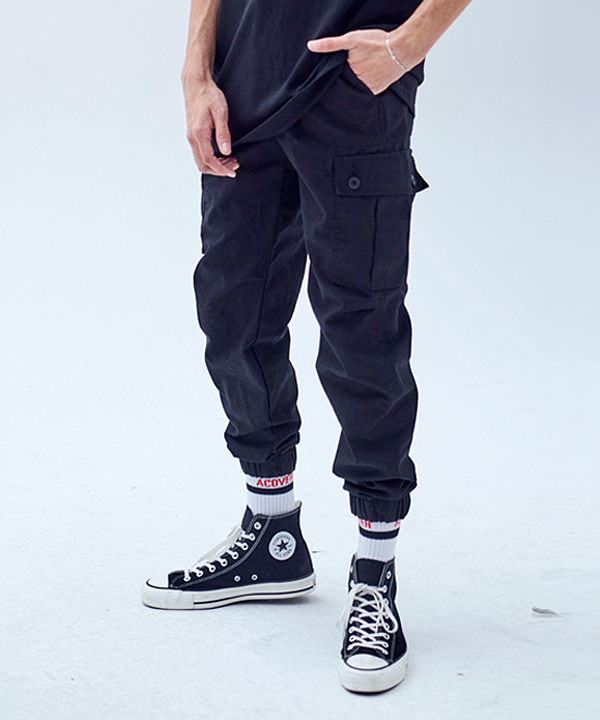 COTTON RIB JOGGER PANTS