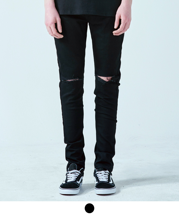 ACOVER Damageed Black Jean