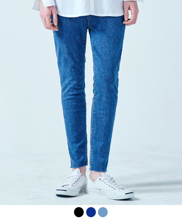 BASIC VINTAGE WASHED JEANS BLUE