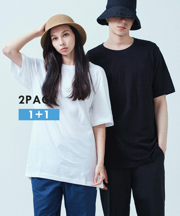 [2PACK] BASIC COOL SIDE-VENT T-SHIRTS