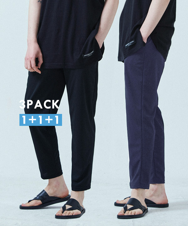 [3PACK] PERFECT SLIM BANDING SLACKS