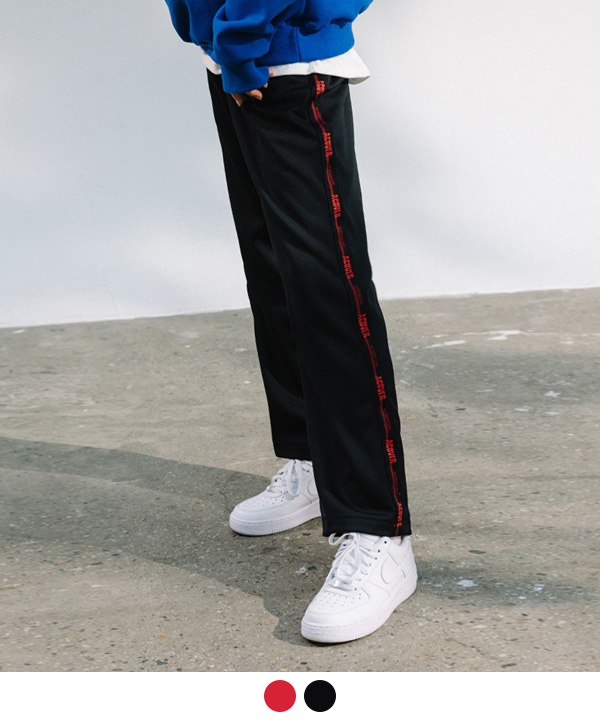 [10월23일 예약발송] BLACK TAPE TRACK PANTS
