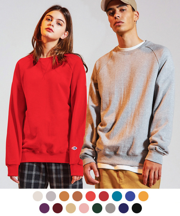 [1+1] Terry Tumble Crewneck Sweatshirts