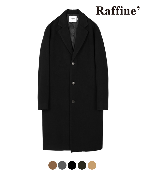 [11월22일 예약발송] HEAVY WOOL BLEND SINGLE COAT BLACK