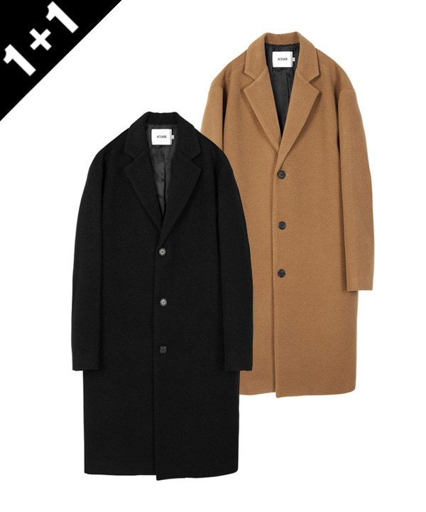 [11월22일예약배송][1+1] HEAVY WOOL BLEND SINGLE COAT
