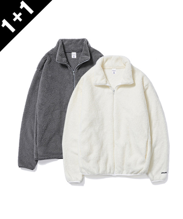 [1+1] FULL ZIP SILKY FLEECE JACKET
